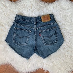 Levi's 505 vintage high rise cut off shorts